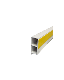 PVC-KammerprMN dekor 40x15x1,2 Quarzgrau 0108
