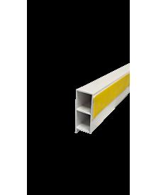 PVC-KammerprMN dekor 40x15x1,2 Schwarzbraun 0112