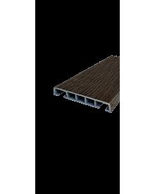 PVC-Klipsleiste dekor 85x12 Menk Mooreiche 0115