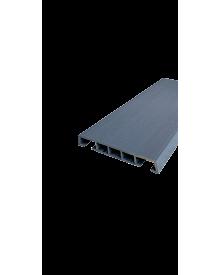 PVC-Klipsleiste dekor 85x12 Menk Basaltgrau 0128