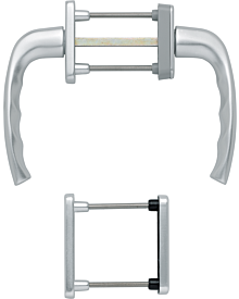 Olive81 NY f PZ-Getr silber F1 Artikelnummer E-G-HOP-0081-S-PZ 46.54 Euro Baustoffe & Leisten & Griffe  Shop meinfenster.de
