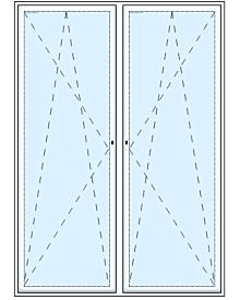 1 tlg Balkontüre mit Oberlicht