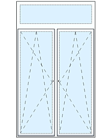 2 tlg Balkontüre