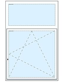 1 tlg. Fenster mit Oberlicht