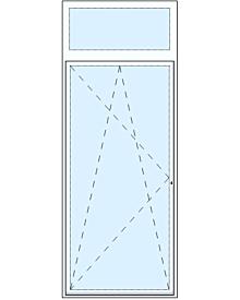 1 tlg. Balkontüre mit Oberlicht