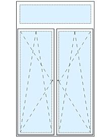 2 tlg. Balkontüre mit Oberlicht