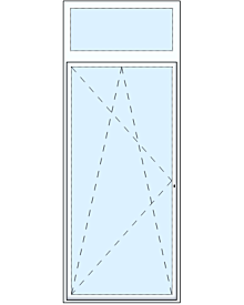 1 tlg Balkontüre mit Oberlicht Artikelnummer MF-17734 587.67 Euro Fenster-Tueren  Shop meinfenster.de